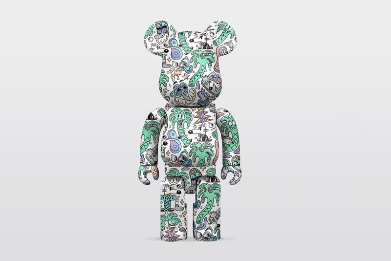 Steven Harrington Medicom Toy BE@RBRICK Release CROSS STUDIO ASIA 'hello mello 'mello' palm trees psychedelic trippy california beach