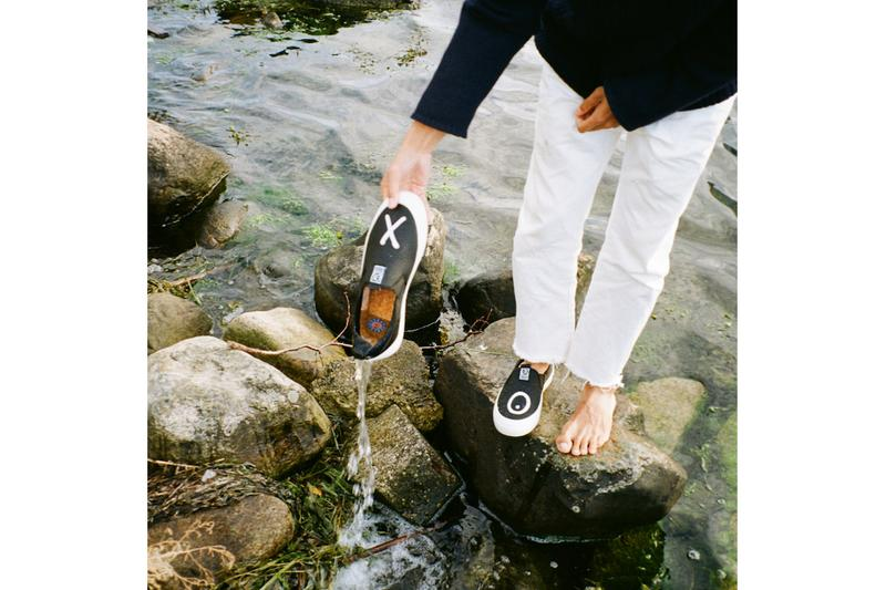 """André Saraiva x Surface Project Sustainable Sneakers exclusive slip-ons macroplastics upcycled materials designs art ocean plastic crisis Mr. A figure """"X"""" """"O"""""""