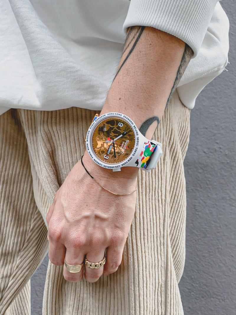 swatch a bathing ape bape watch collection big bold product self-expression design fashion accessories launch