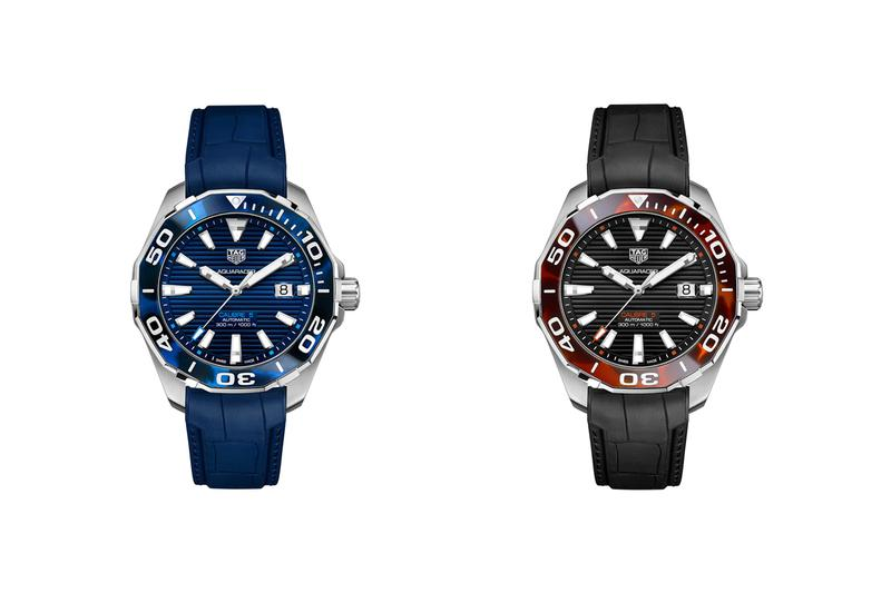 tag heuer swiss luxury watches aquaracer tortoiseshell bezel models blue red black accessories