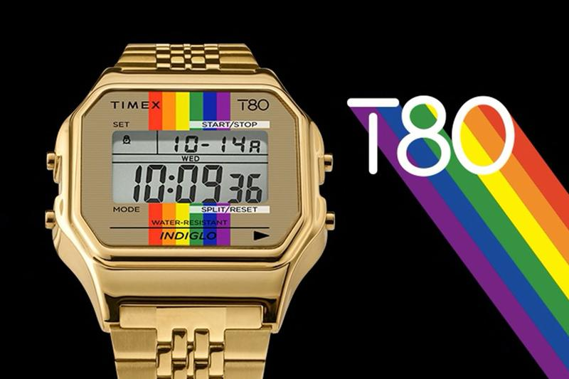Timex Exclusive Rainbow T80 gold Watch PRIDE month LGBTQIA+ equality dignity self affirmation visibility identity