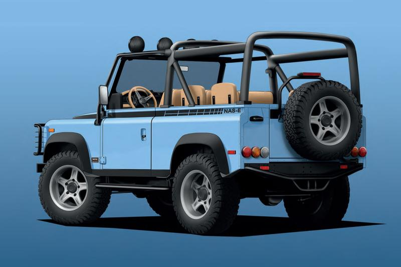 twisted automotive north american spec land rover defender 90 off road ev electric vehicle powertrain
