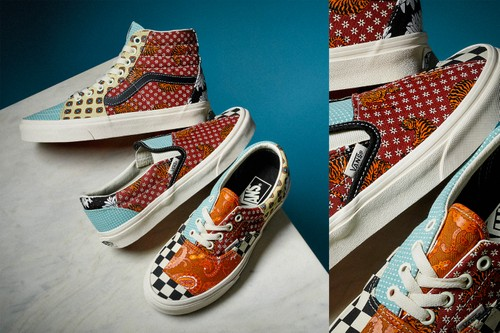 Geometric Patterns and Visual Motifs Define Vans Tiger Patchwork Pack