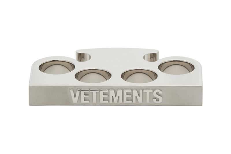 VETEMENTS Silver Logo Knuckle Ring Star Keychain Release Buy Price Weapon
