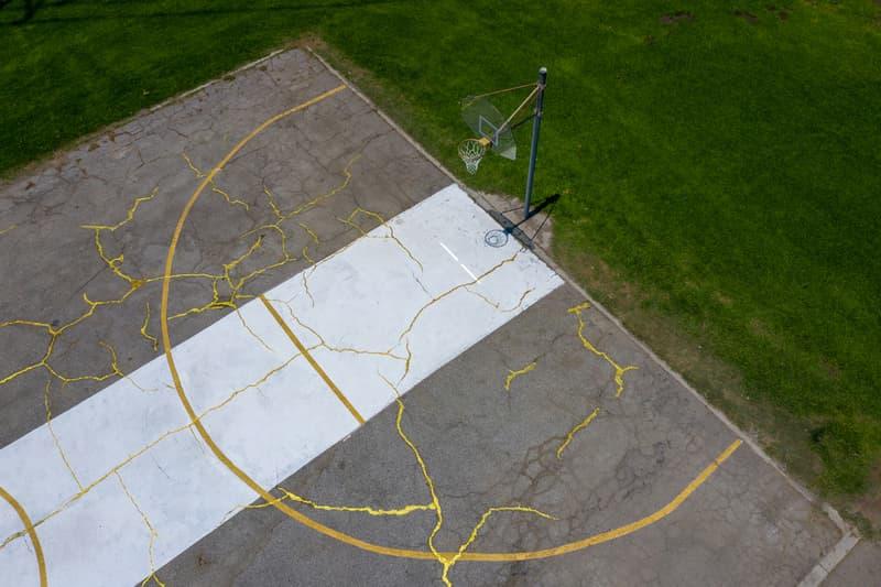 kintsugi basketball court victor solomon artworks sports art