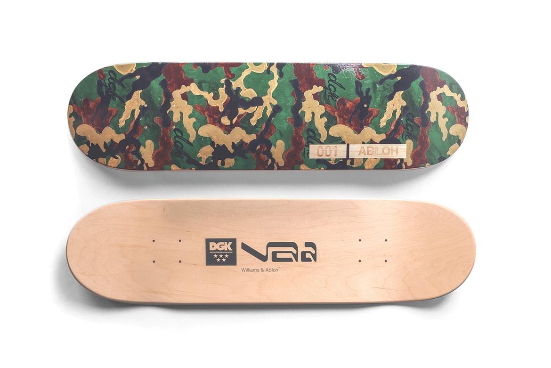 Stevie Williams and Virgil Abloh DGK skateboard deck