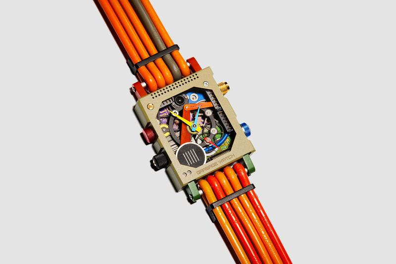 Vollebak Unveils Garbage Watch Prototype computer motherboards microships wires electronic waste