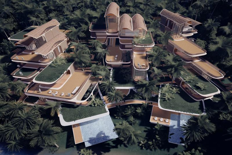 Zaha Hadid Architects Residence in Roatán project island caribbean Roatán Próspera Residences AKT II and Hilson Moran Bay Islands of Honduras sustainability digital technology platform