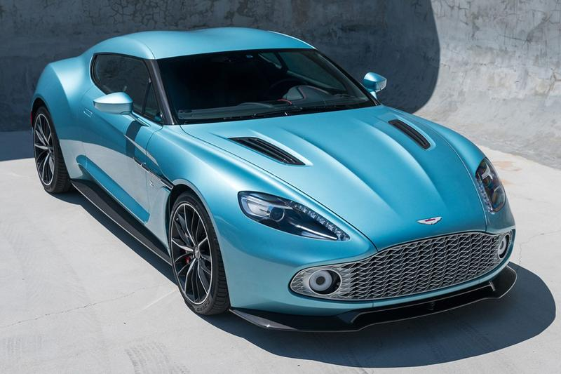 """2018 Aston Martin Vanquish Zagato Coupe For Sale Auction Bring a Trailer Rare One of 99 Cars British Italian Engineering Styling Supercar Modern Classic Limited Edition $820k USD """"Caribbean Pearl"""""""