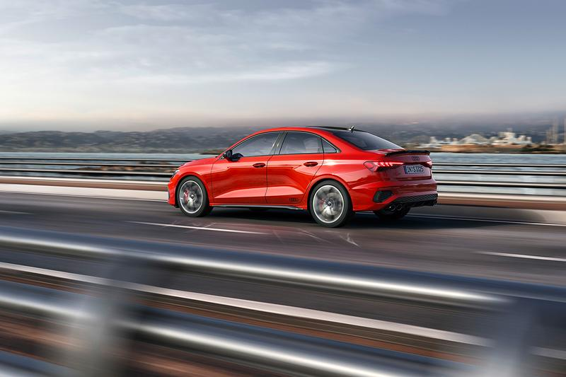 2022 Audi S3 Sportback and Saloon First Look Quattro All Wheel Drive 310 HP Turbocharger Four-Pot V4 S-Tronic Closer Look Release Information UK USA Pricing Europe German Automotive Fast Family Car Hot Hatchback