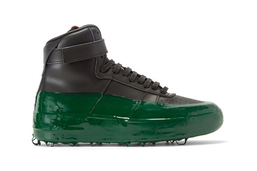 424 Gives High-Top Sneaker a Spooky Green Rubber-Dipped Makeover