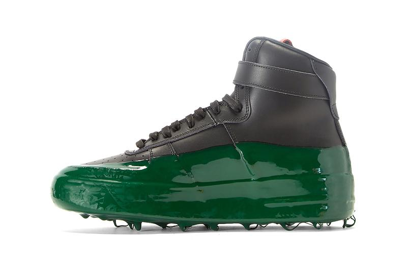 424 Dipped High-Top Sneakers in Black Rubber Green Slime Footwear Sneaker Release Information Fairfax Guillermo Andrade Logo Shoes