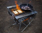 How to Make a Takibi Bonfire and Grill with Snow Peak
