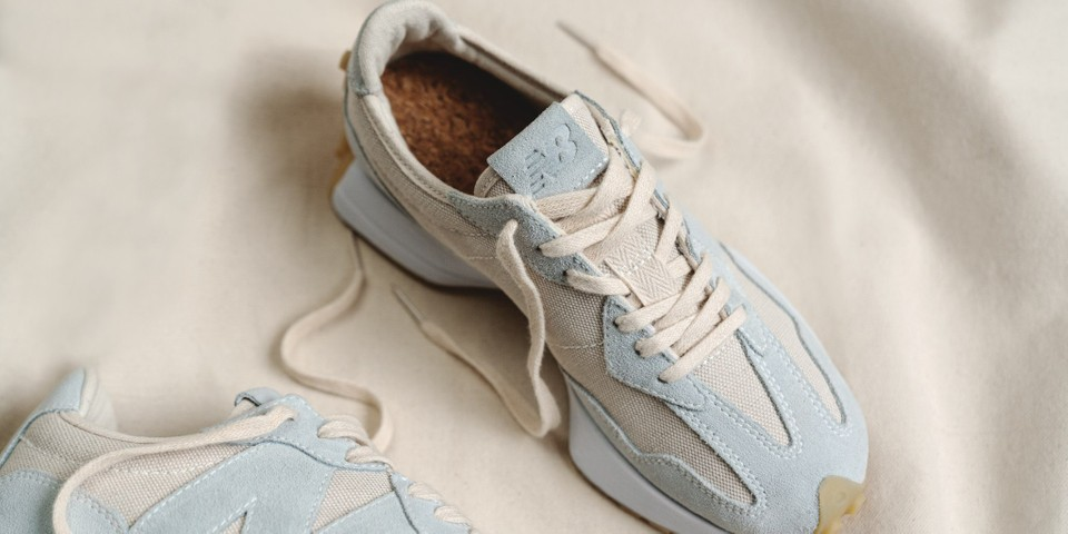 """New Balance Champions Sustainable Fashion With """"Undyed"""" 327 Sneaker"""