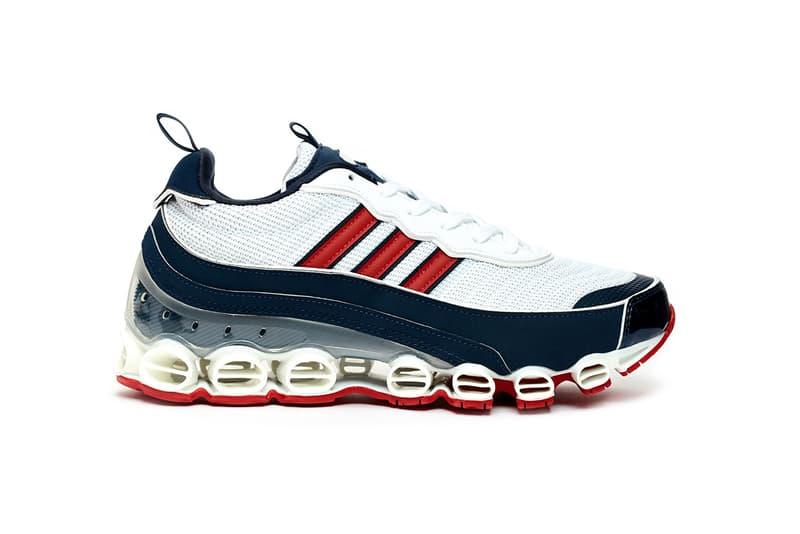 "adidas Originals Microbounce T1 ""Night Cargo"" CLOUD WHITE / SCARLET / COLLEGIATE NAVY Eg5394 Eg5395 GLORY GREEN / ORANGE / CLOUD WHITE Release Information Closer Look Footwear Vintage Retro 2008 Runner Three Stripes Drop Date"