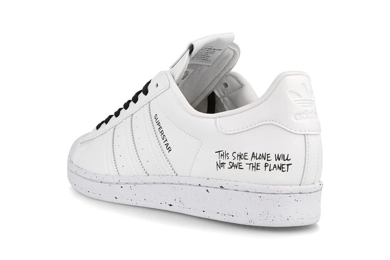 """adidas Originals Continental Superstar Stan Smith Supercourt """"This Shoe Alone Will Not Save the Planet"""" Sustainability Eco Conscious Three Stripes White Sneakers Drop Pack Release Information Closer First Look Summer FU9787 FW2293 FU9609 FU9728 Vegan Leather"""