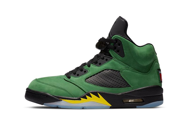 air jordan brand 5 apple green oregon inspire pe ck6631 307 black yellow strike official release date info photos price store list buying guide