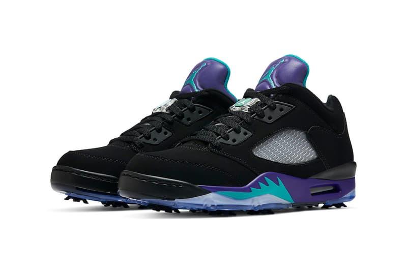 Air Jordan 5 Low Golf Black Grape Release Info CU4523-001 Date Buy Price black Purple Teal Ice New Emerald