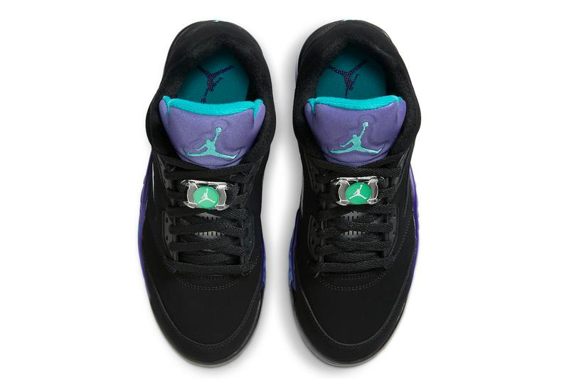Air Jordan 5 Low Golf Black Grape Release Info CU4523-001 Date Buy Price black Purple Teal Ice New Emerald
