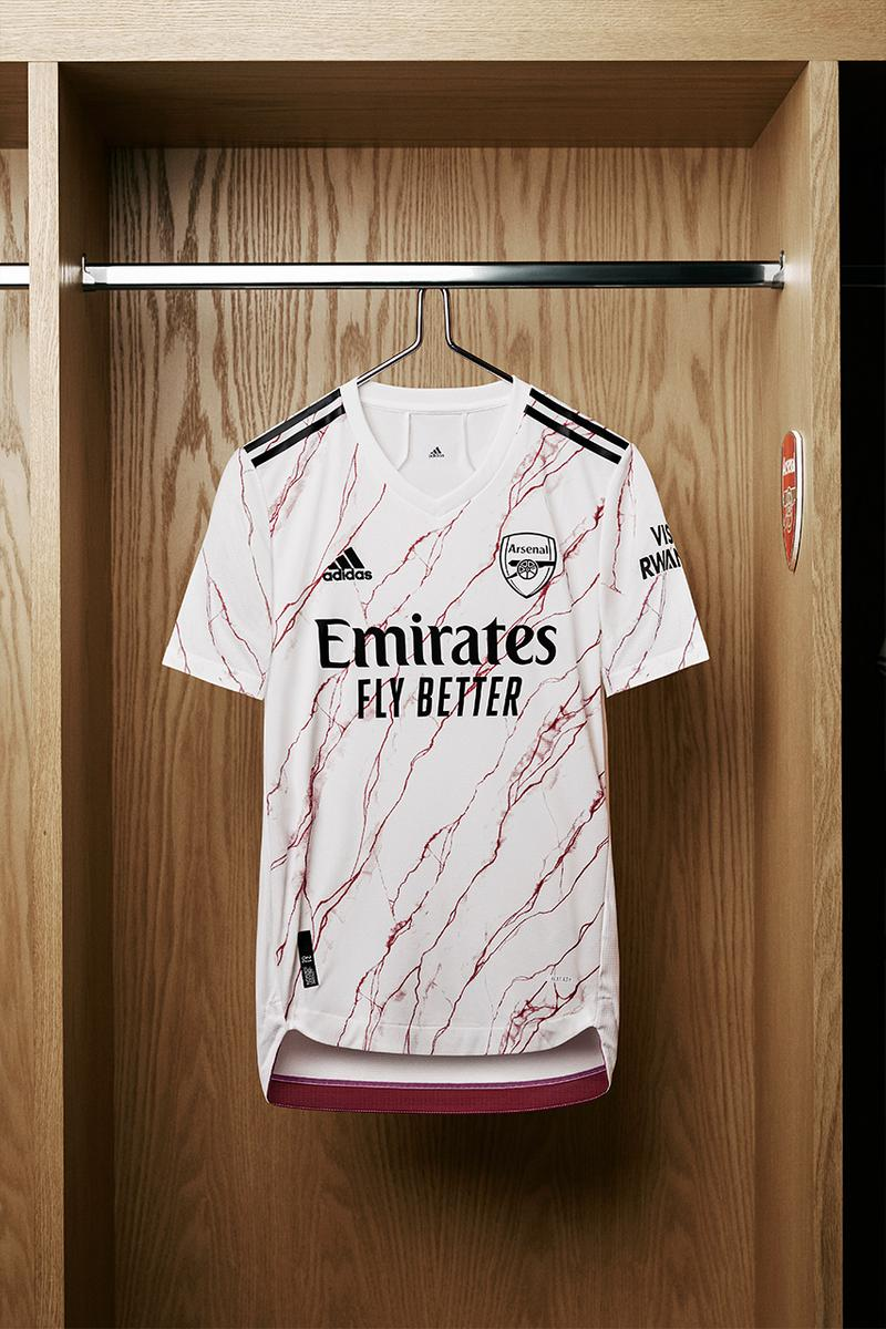arsenal Adidas away kit 2020 2021 Highbury marble Hall effect inspiration emirates stadium release info