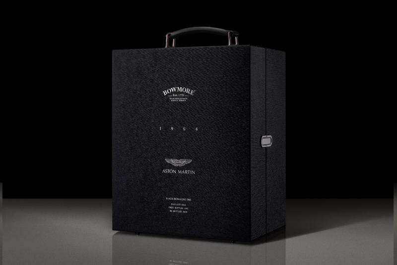 Aston Martin and Bowmore's Ultra-Rare Whiskey Features a DB5 Piston Bottle alcohol supercars British