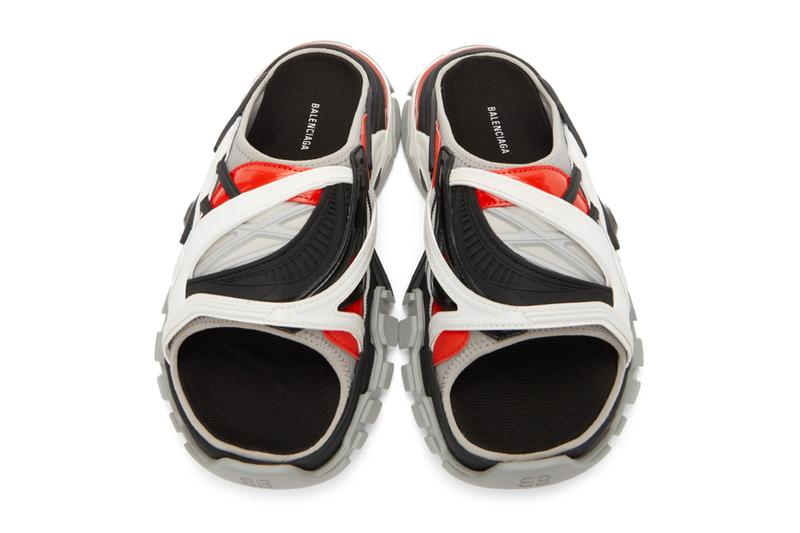 Balenciaga Track Sandals Gray Black multi color menswear streetwear slippers slides spring summer 2020 collection ss20