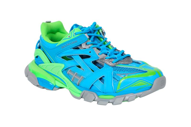 Balenciaga Track2 Blue Green Sneakers Release the Webster shoes kicks trainers footwear triple S