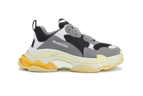 "Balenciaga Revives Triple S Sneaker in Familiar ""Gray/Yellow"" Colorway"