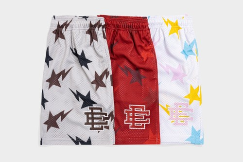 Eric Emanuel Joins BAPE for Colorful Shorts Capsule