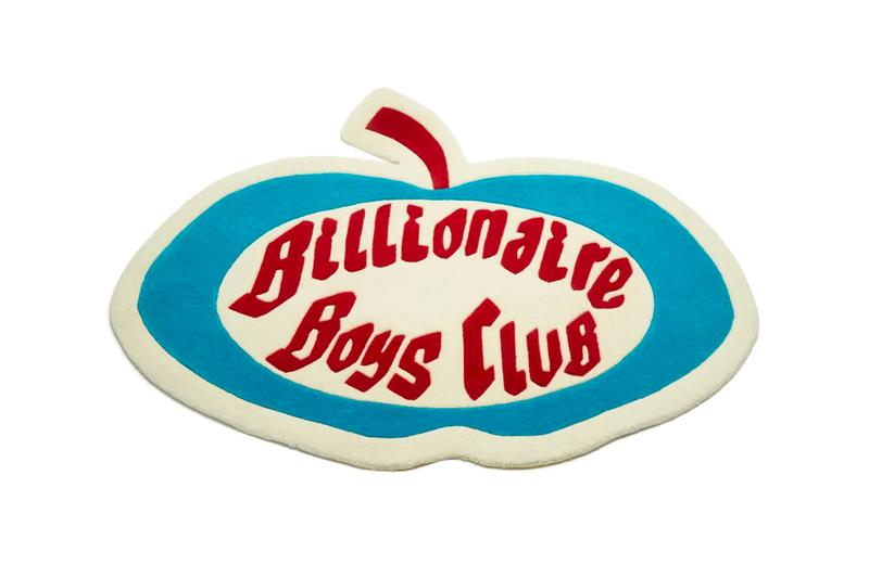 BILLIONAIRE BOYS CLUB Apple Logo Shearling Rug Release BBC home decor Pharrell Williams
