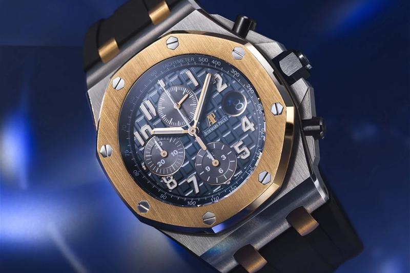 lucerne retailer bucherer blue collection audemars piguet royal oak chronograph watches accessories