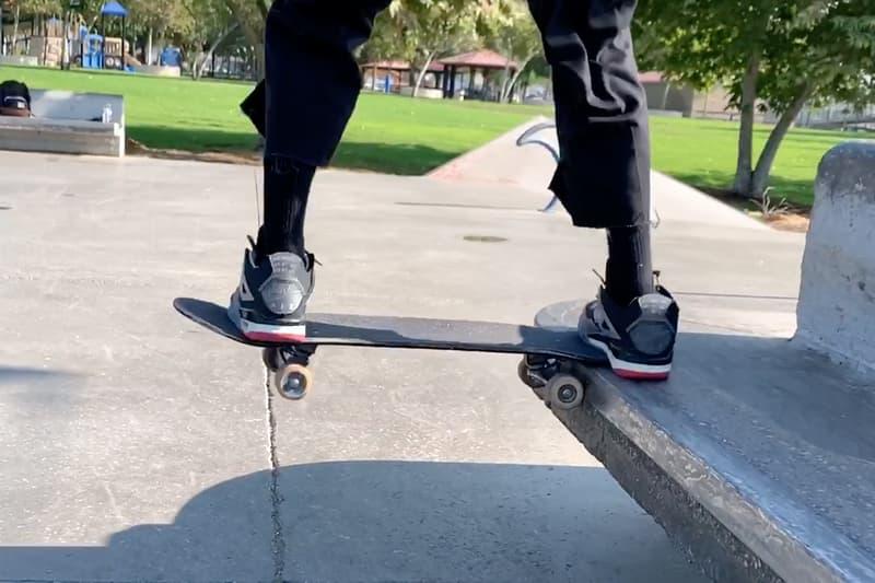 Burberry.Erry Erik Arteaga Skates Unreleased Off White Air Jordan 4 Bred Video
