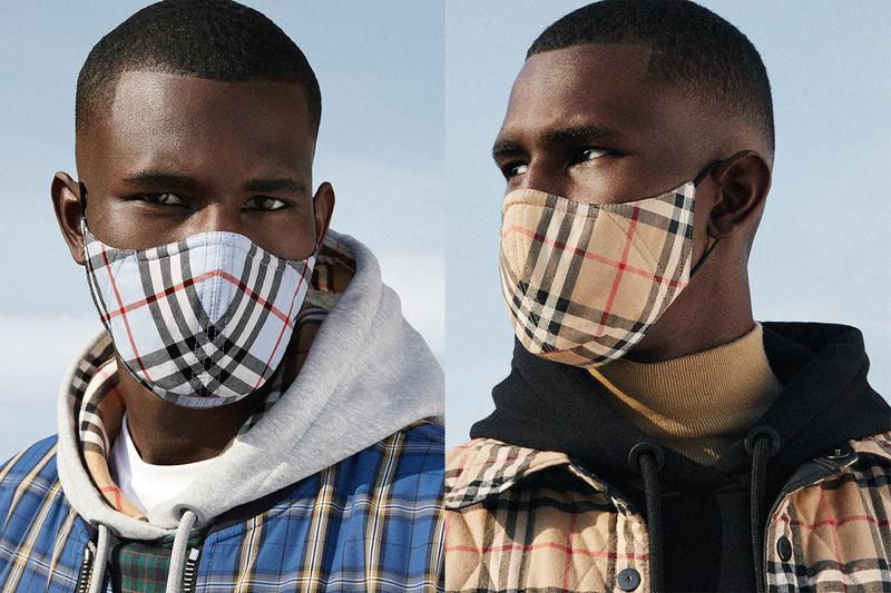 burberry masks check vintage archive pattern release information covid 19 coronavirus price details buy cop purchase