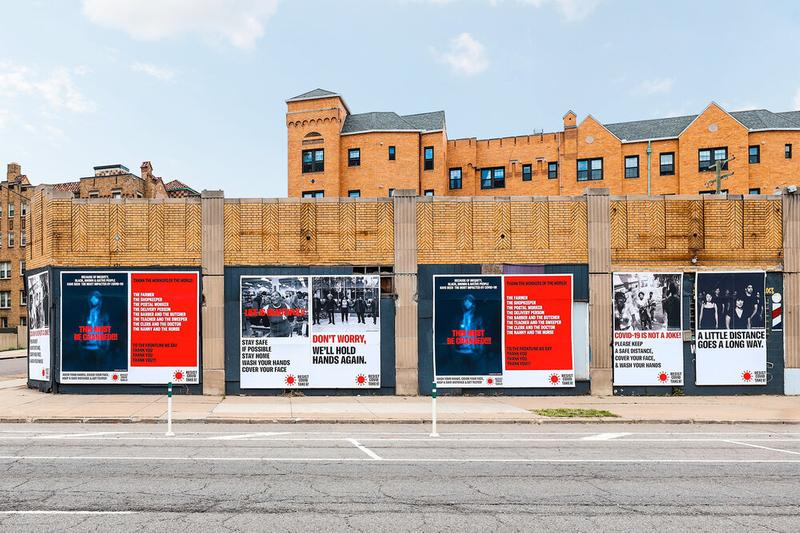 """Carrie Mae Weems """"RESIST COVID TAKE SIX!"""" Campaign library street collective posters detroit east village social distancing"""