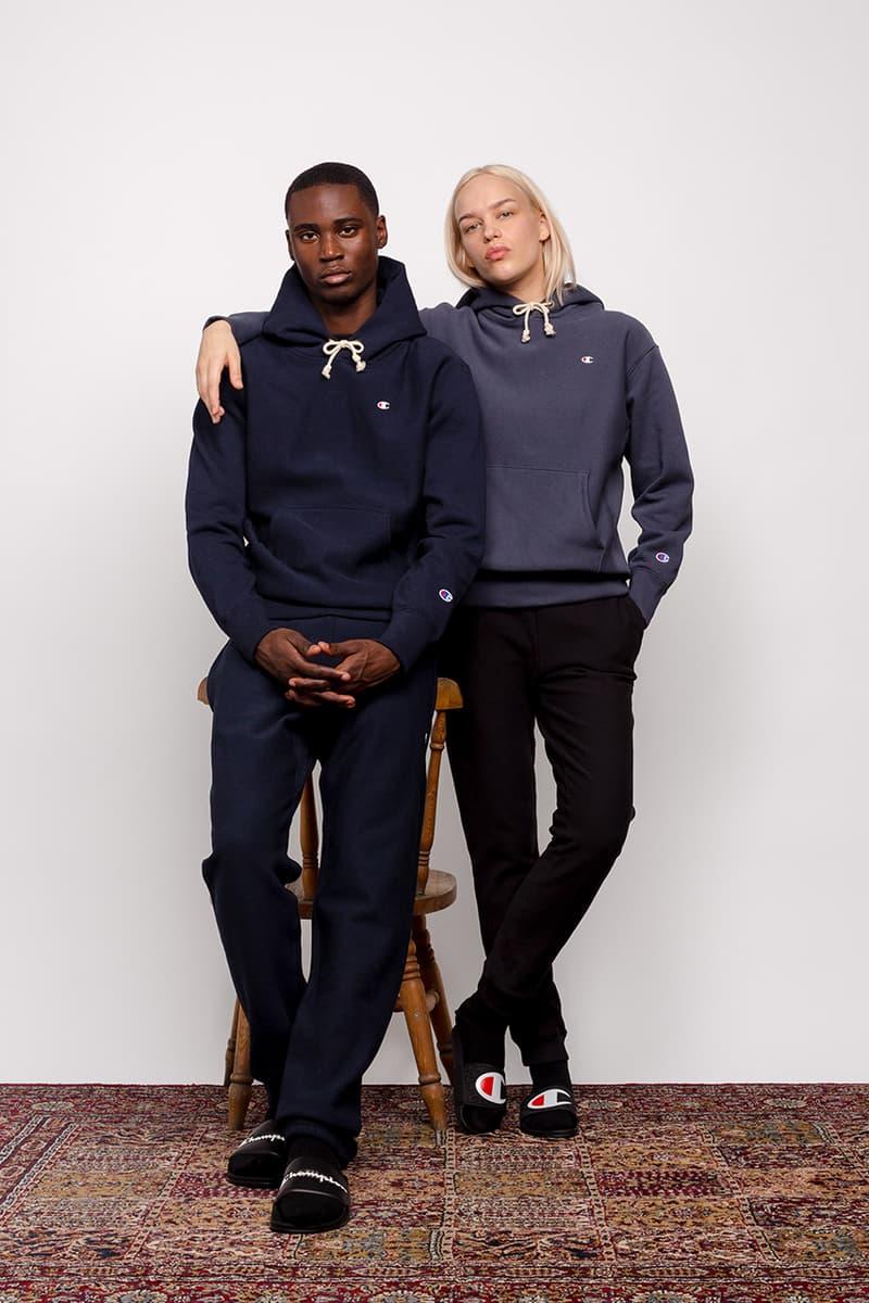 champion fall winter 2020 reverse weave collection lookbook sportswear collegiate buy cop purchase