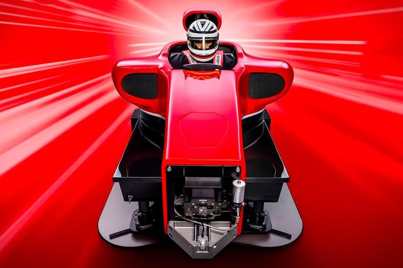 Cranfield Full Motion + G-Force Formula 1 Simulator info racing tech games luxury racing home Britain cockpit Ferrari McLaren