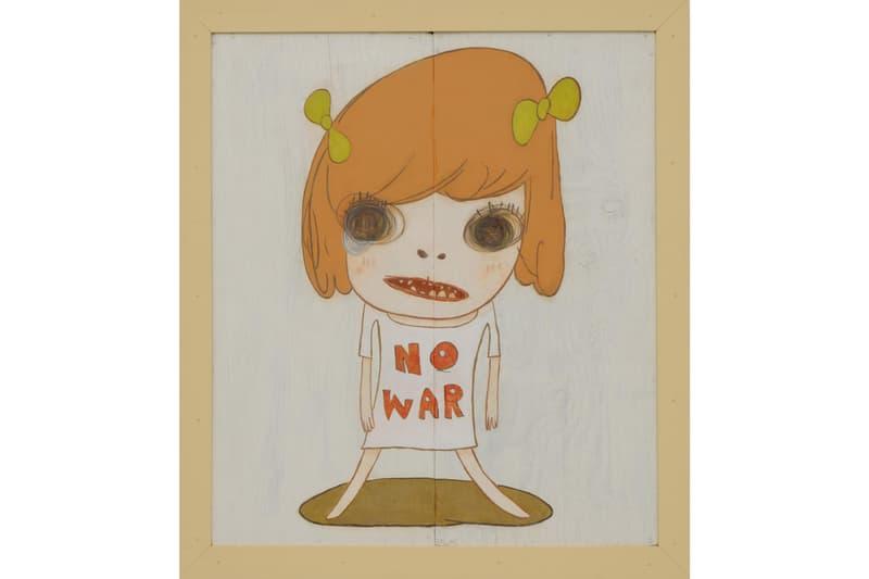 Dallas Contemporary Reopening Yoshitomo Nara Show 'NO WAR' acrylic wood exhibition
