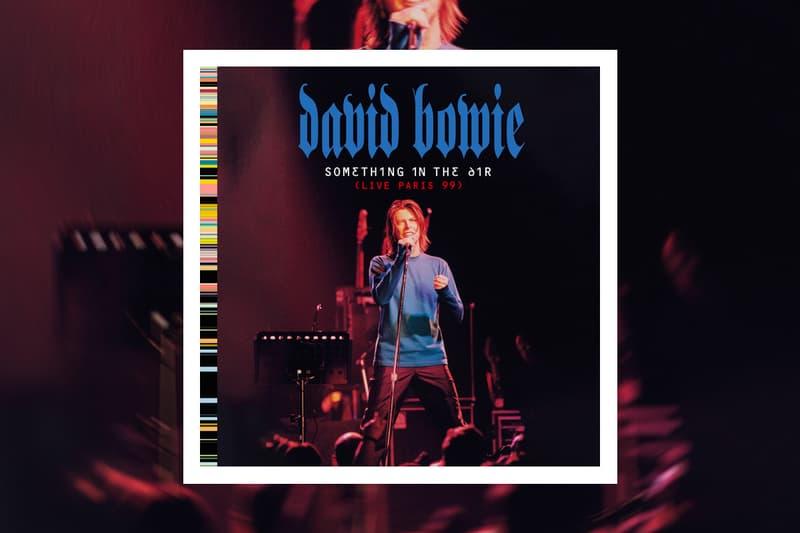 David Bowie Something in the Air live Album Stream hours Elysée Montmarte Commandeurs of the Ordre des Arts et des Lettres