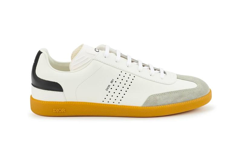 Dior B01 Sneakers White Calfskin suede menswear streetwear spring summer 2020 collection ss20 trainers runners kicks footwear shoes