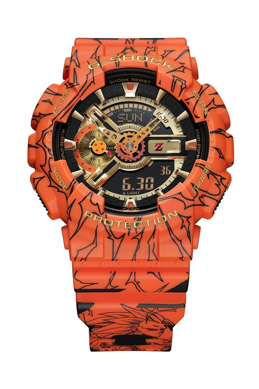 G-SHOCK x 'Dragon Ball Z' GA110JDB-1A4 Wider Release america august 3 22 pre order buy wimtepiece watch collab casio son goku orange