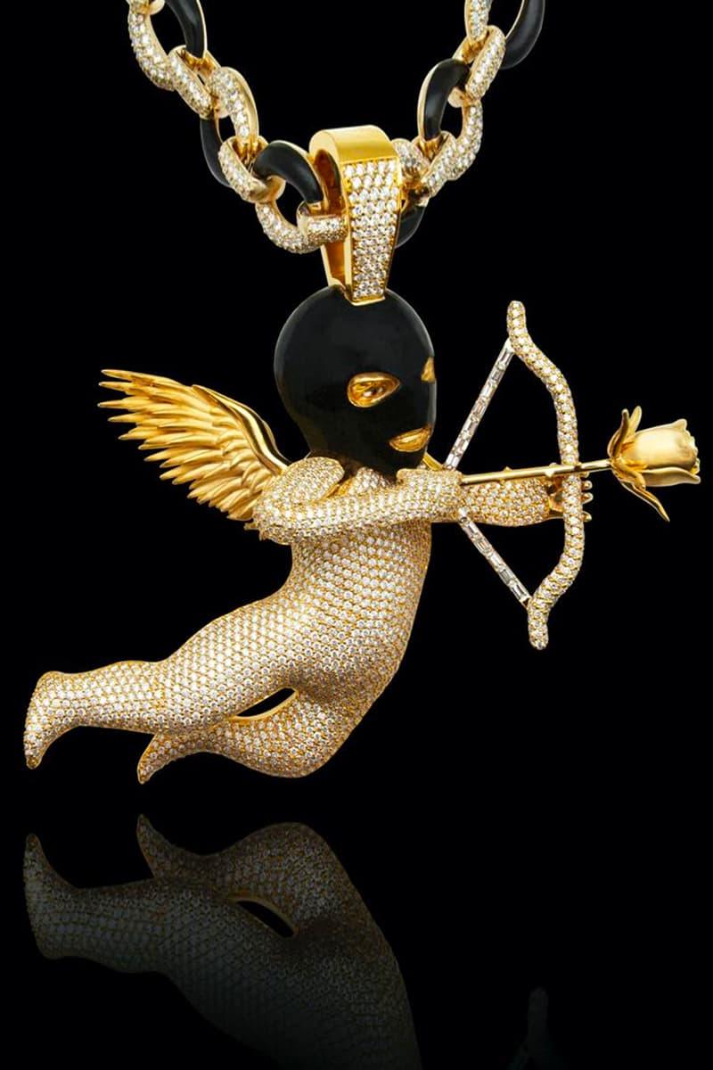 Drake Ski Mask Cupid Chain Diamond ALYX Necklace Jason of Beverly Hills