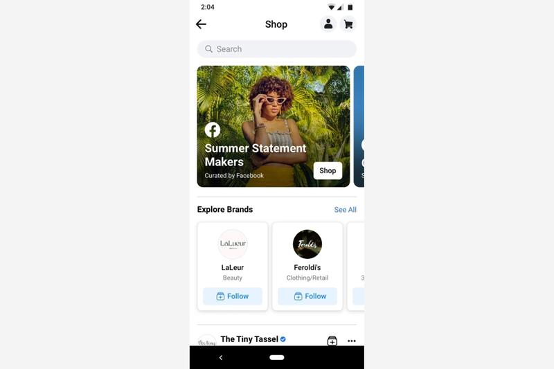 facebook mobile app shops shop tab e commerce feature launch release update mark zuckerberg
