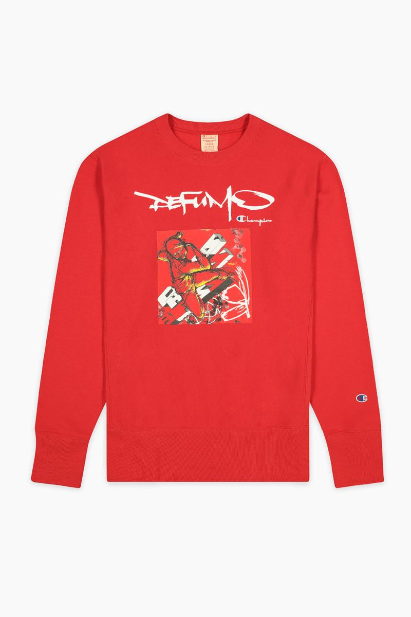 de fu mo champion collaboration futura delta mode apparel fashion style streetwear graffiti
