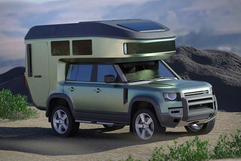 GehoCab New Land Rover Defender Camper outdoors German Land Rover Trailers