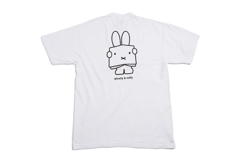 Ghostly International and Miffy Capsule Release collection 65th anniversary tees polos shorts hoodies pin reversible blanket rabbit Dutch artist orange black white