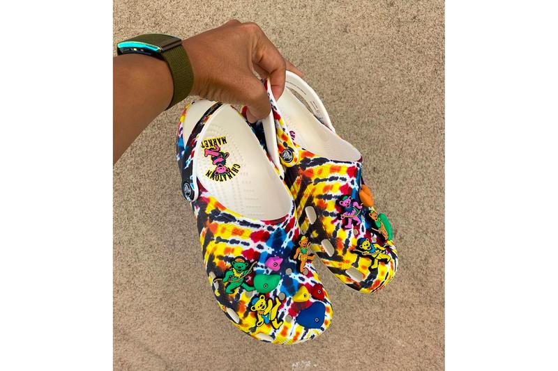 Grateful Dead Chinatown Market Crocs menswear streetwear kicks footwear shoes clogs spring summer 2020 collection ss20 jeff staple instagram teaser