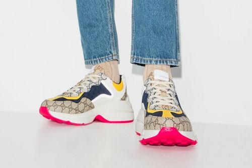 Gucci Drops Multi-Colored Rhyton GG Monogram Sneakers