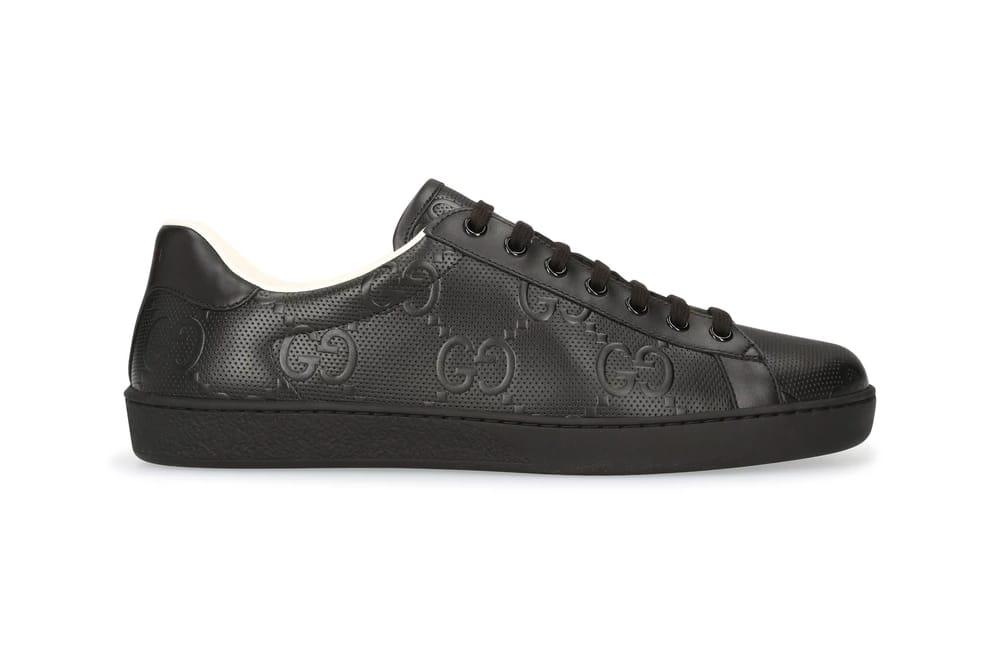 gucci black slip on sneaker