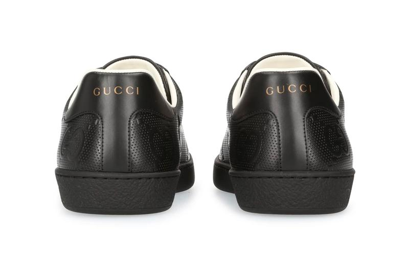 Gucci New Ace Sneakers Triple Black menswear streetwear spring summer 2020 collection ss20 footwear shoes sneakers kicks trainers runners