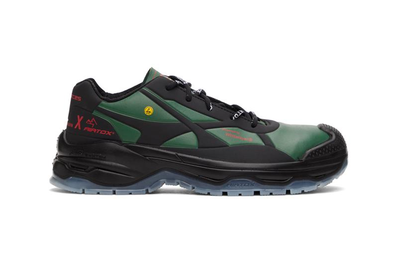 han kjobenhavn Airtox sneakers green black ssense sneaker release info green high-end safety where to cop functional footwear